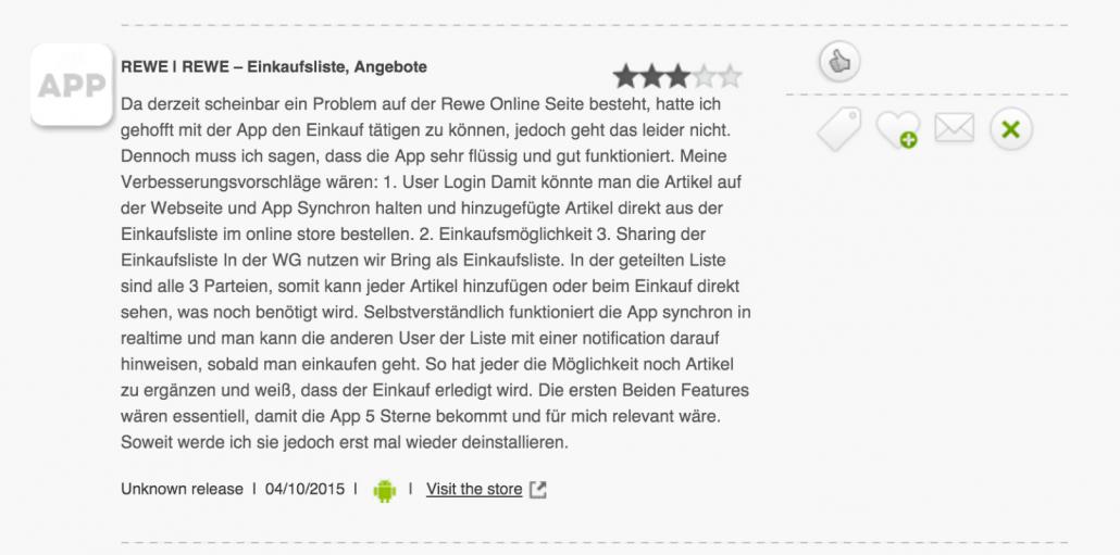 REWE-App-Kommentar