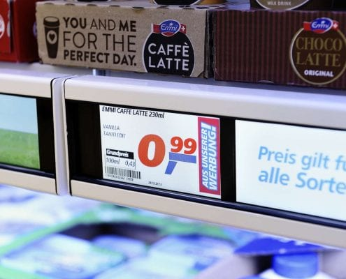 electronic shelf label digital signage