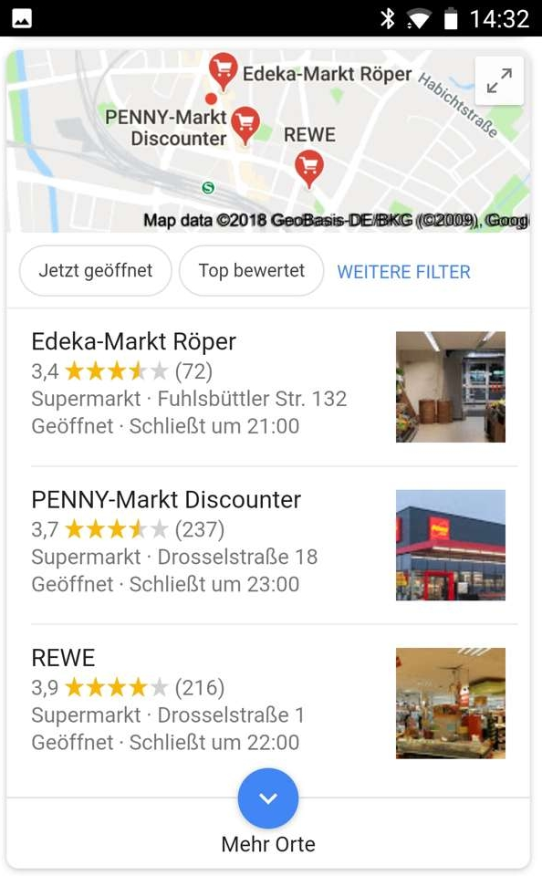 Lokale Suche Smartphone