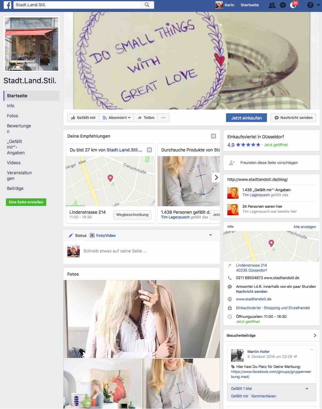 Stadt Land Stil social media erfolgsparameter für den stationären handel
