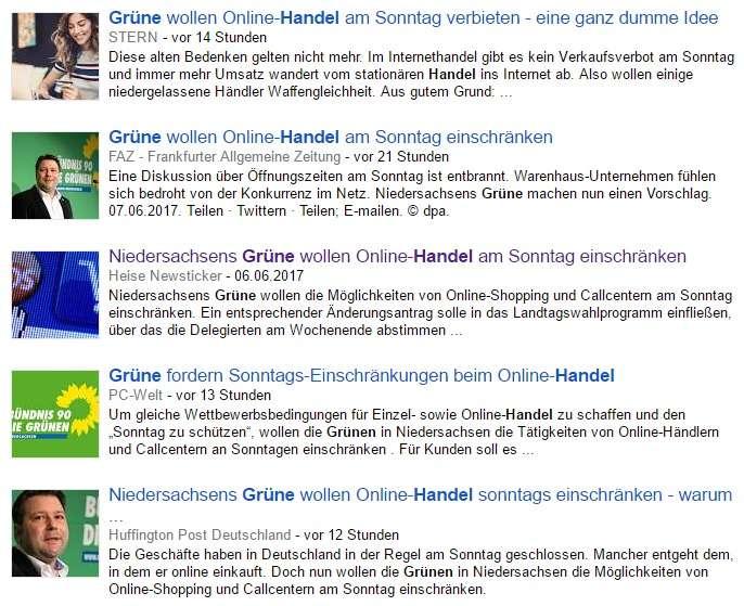 Google News Grüne