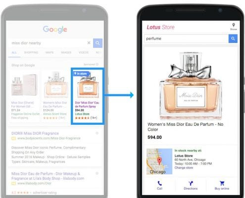 Google Local Inventory Ads - das digitale Schaufenster