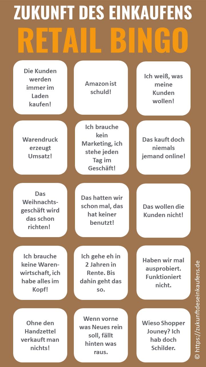 ZUKUNFT DES EINKAUFENS Retail Bingo