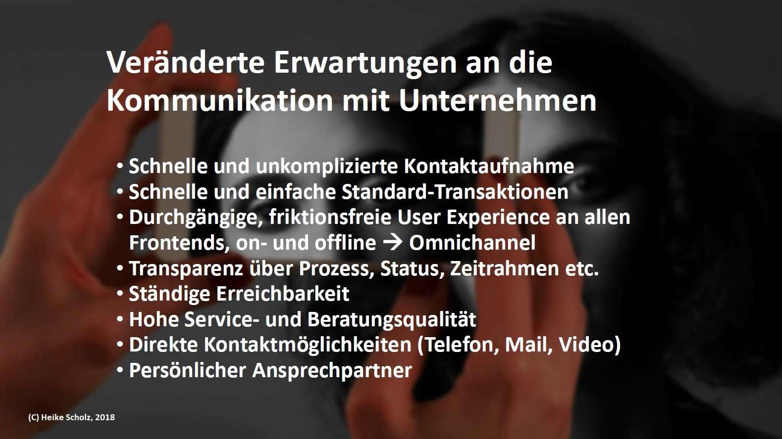 Veränderte Erwartungen an Kommunikation