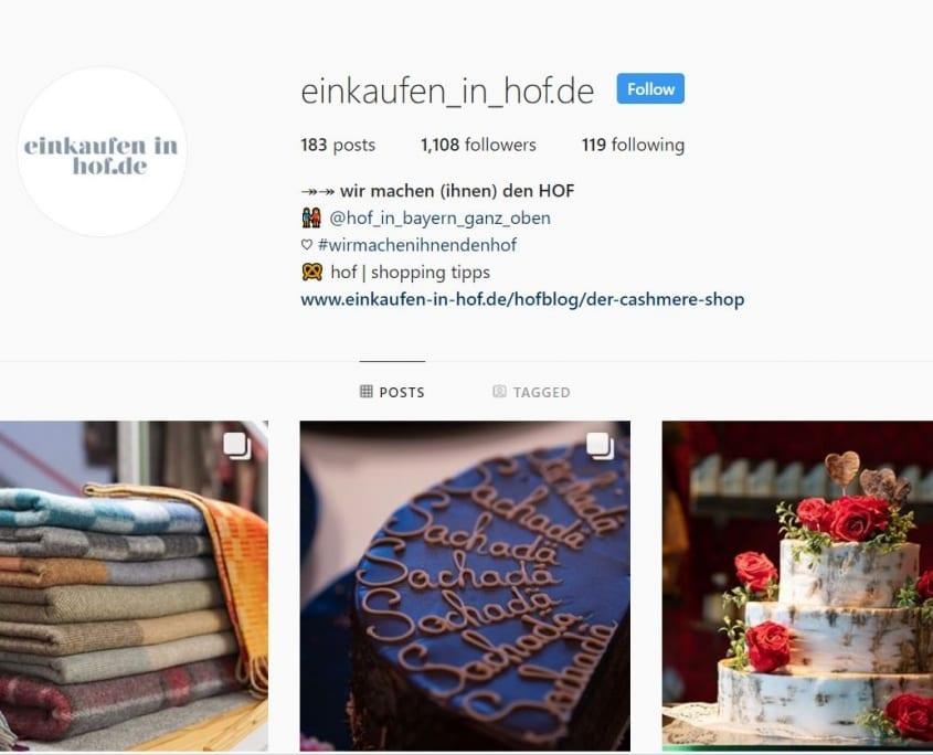 Instagram Einkaufen in Hof