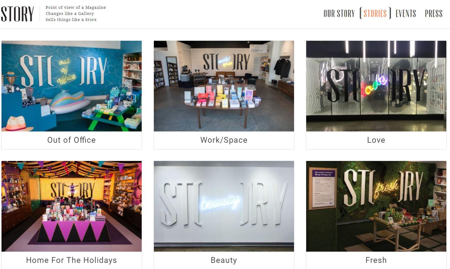93438f3c27532b Story bietet eine sehr revolutionäre Art des Einzelhandels  ephemerer oder  kurzlebiger Einzelhandel mit wechselnden Themen.