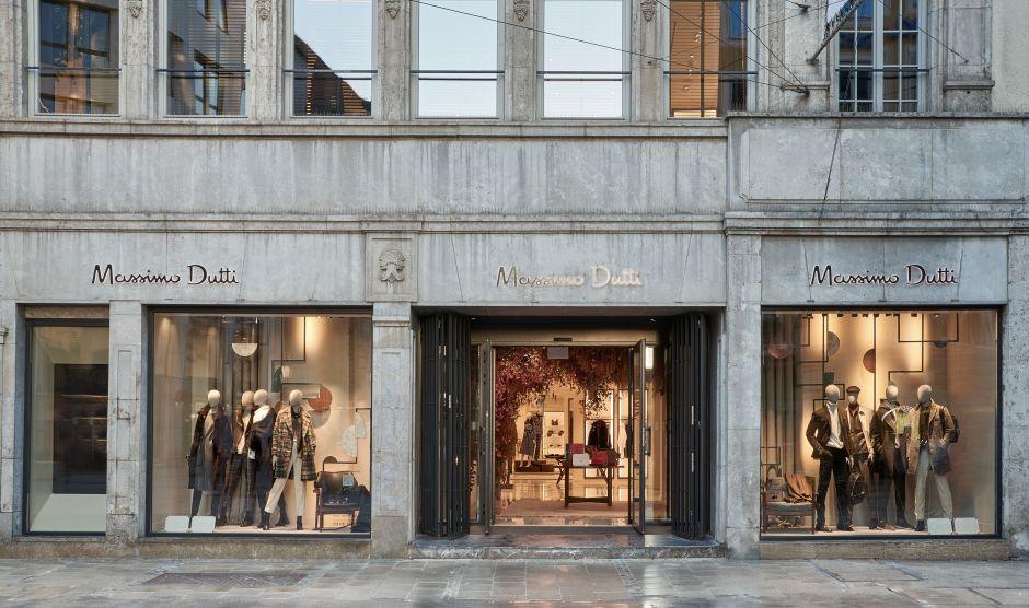 der dritte ort der massimo dutti flagship store in m nchen. Black Bedroom Furniture Sets. Home Design Ideas