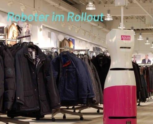 Adler Modemärkte Roboter Rollout