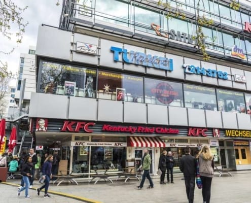 Innerstädtische Shopping Center
