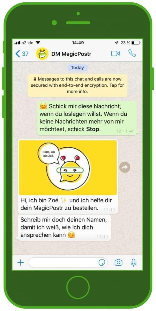 Chatbot Zoe dm