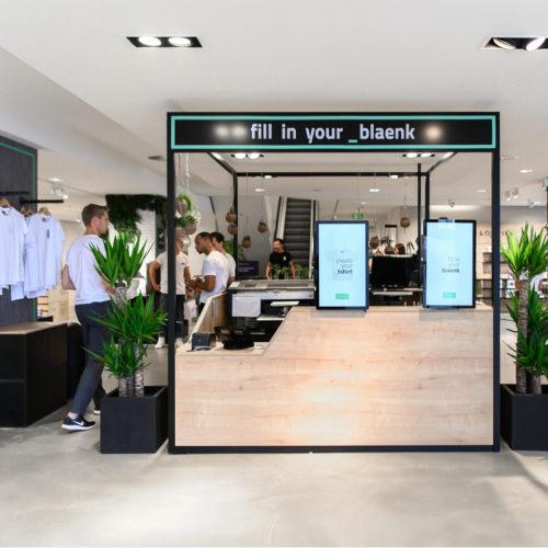 Kassenzone im _blaenk-Store