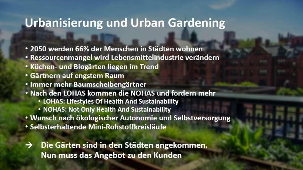 Urbanisierung und Urban Gardening