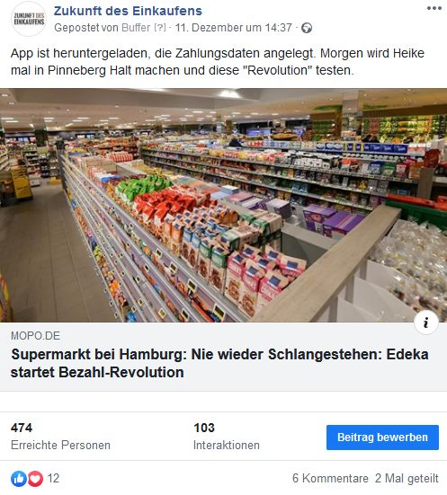 Facebook Post Edeka