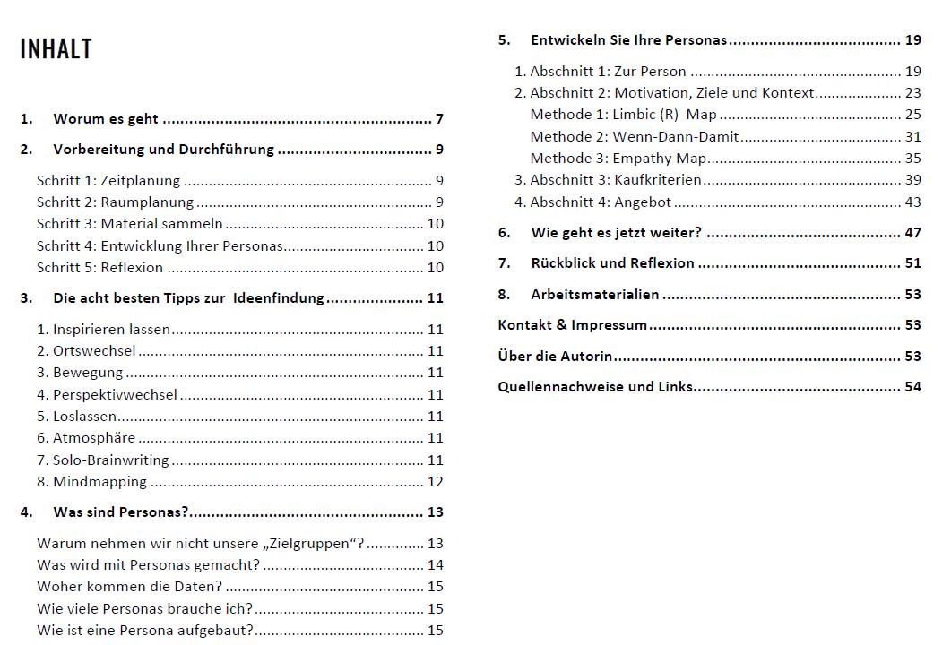Arbeitsbuch Personas Inhalt